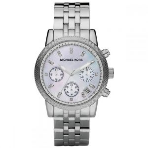 28abd74fcabc Michael Kors Chronograph Watch for Women - Analog Stainless Steel Band -  MK5020