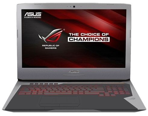 Asus ROG G752VY-GB112T Gaming Laptop - Intel Core i7-6820HK, 17.3 Inch, 2TB  + 512GB, 64GB, 8GB VGA, Win 10, Black