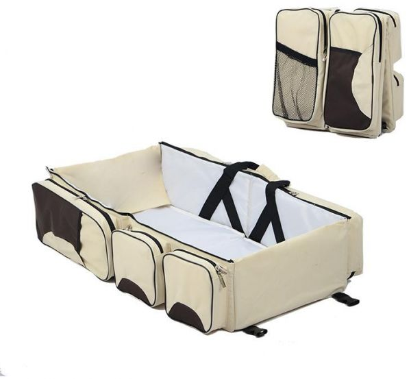Souq Portable Newborn Baby Bed Folding Travel Cot Bag