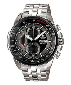 bf30367b3c8e Casio EF-558D-1ADF Stainless Steel Analog-Chronograph Mens Watch Black Dial