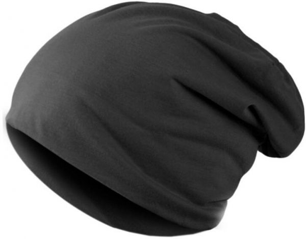 7573e57012c Black Cotton Beanie   Bobble Hat For Men