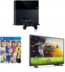 Sony Playstation 4 500GB, 2 Controllers + Fifa 17 with 40 Full HD LED TV (Game Console)