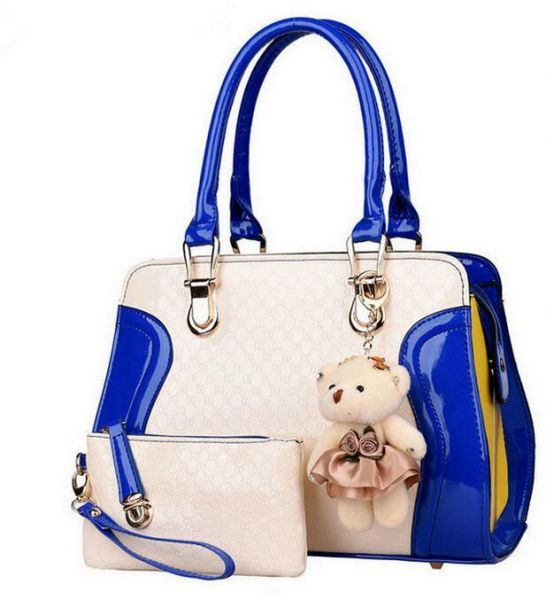 Women Ladies Tote Bags Patent Leather Lady S Handbag With Toys