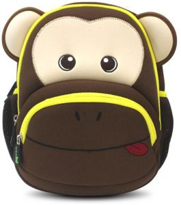 4f97cee9fcd7 Nohoo Kids School Bag Animal Monkey Cartoon Backpack Satchel School Book Bag  (Coffee)