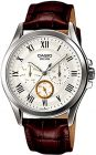 Casio Men's White Dial Leather Band Watch - MTP-E301L-7BVDF (Watch)