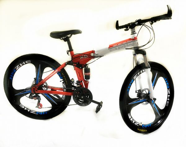 26 Inch Bmw X6 Mountain Bike Suspension Folding Bicycles White Red Price Review And Buy In
