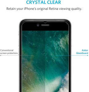iPhone 7 Screen Protector - Anker GlassGuard Premium Tempered Glass Screen Protector for iPhone 7