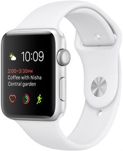 b0fa308f8 Apple Watch Series 2 - 38mm Silver Aluminium Case with White Sport Band, OS  3 - MNNW2