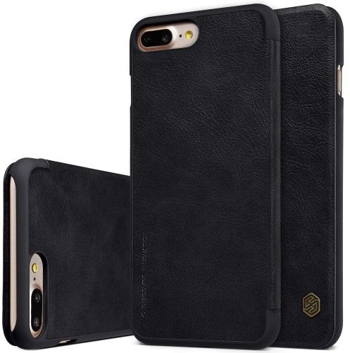 Nillkin Apple iPhone 7 Plus / iPhone 8 Plus Qin Flip Leather Case Cover -  Black