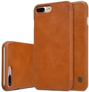 017cd1926ac24 Nillkin Apple iPhone 7 Plus   iPhone 8 PlusQin Flip Leather Case Cover -  Brown