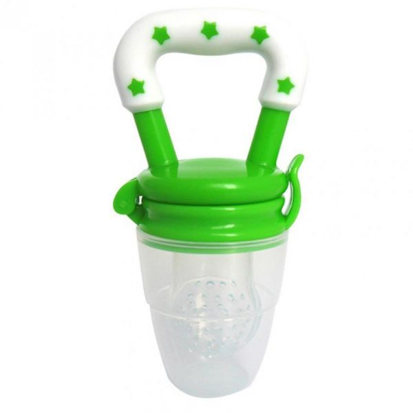 green color fresh food and fruits baby feeding nipple pacifi