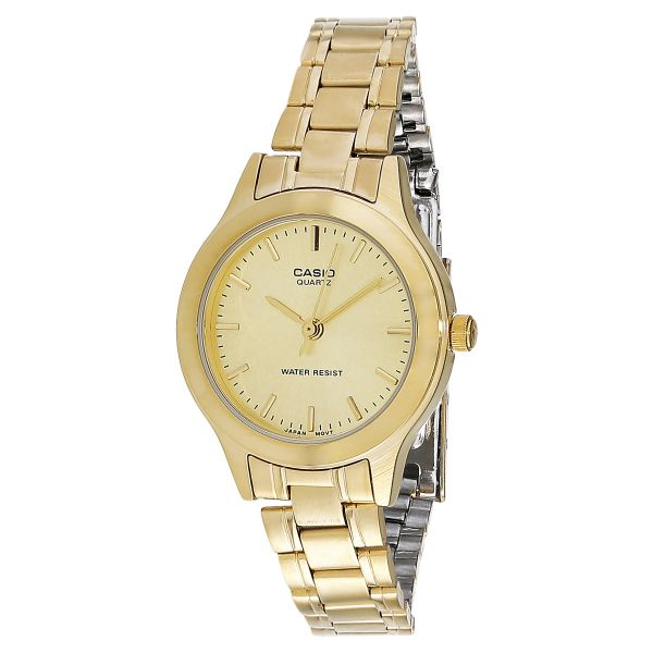 a3775544b30 Casio Women s Gold Dial Stainless Steel Band Watch - LTP-1128N-9A ...
