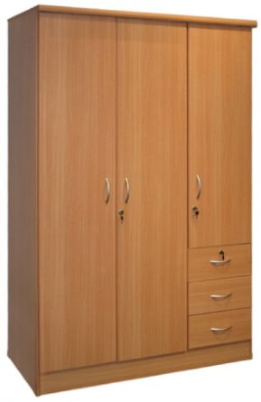 Wooden 3 Door Lock Cabinet, Beige, price, review and buy in Dubai ...