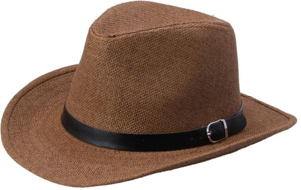 Brown Straw Cowboy Hat For Unisex