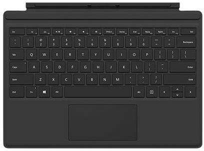 Microsoft Surface Pro 4 Type Cover - English-Arabic Keyboard, Black