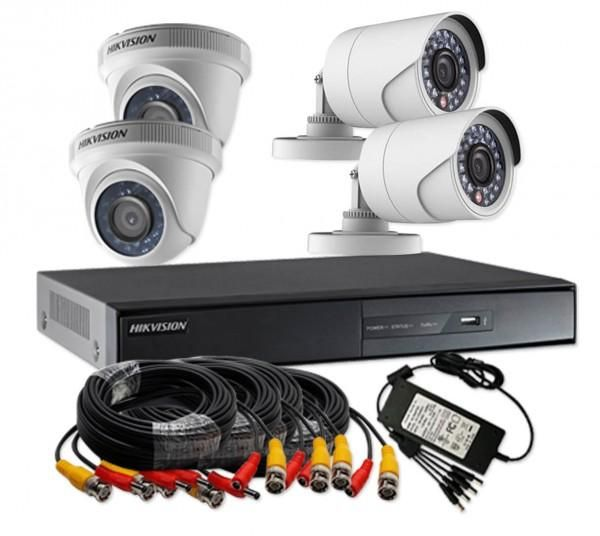 Hikvision Turbo Hd 720p 4 Channel Cctv Camera Kit Ds J1421