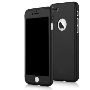 Ultra Thin Full Body 360 Degree Coverage Protection Hard Slim Case For Apple iPhone 7 - Black