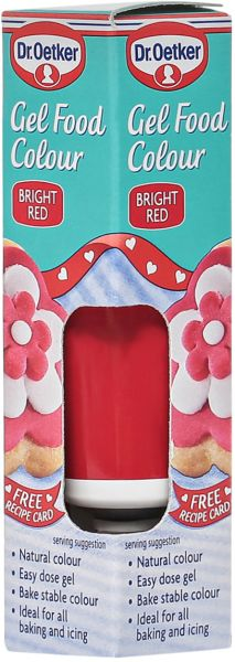 Dr. Oetker Bright Red Gel Food Color - 100g, price, review and buy ...