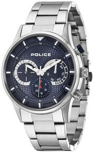 Police Mens Driver Blue Silver Watch 14383JS-03M