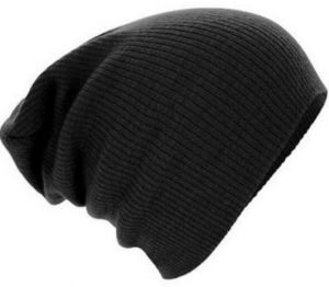 50e2b30bb44 Black Wool Beanie   Bobble Hat For Unisex