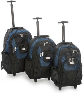e48335df5ba Discovery Backpacks With Removable Trolley Black With Blue - RB2809 (3  Pieces Set)