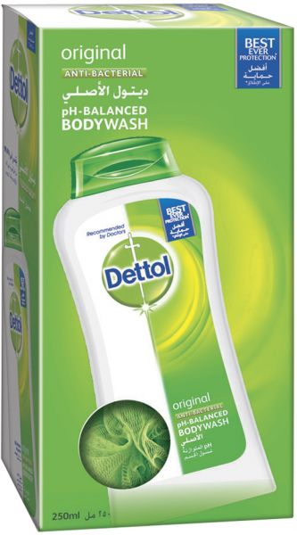 dettol original puff shower gel 250ml price review and buy in dubai abu dhabi and rest of. Black Bedroom Furniture Sets. Home Design Ideas
