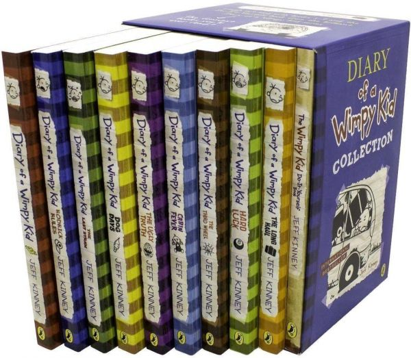 Diary of wimpy kid amulet booksthorndike press large printpuffin diary of a wimpy kid collection 10 books solutioingenieria Image collections
