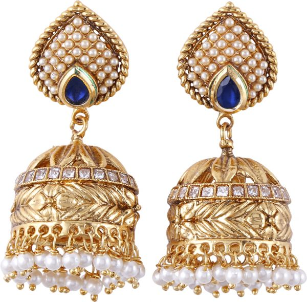 Mulberries Women s Alloy Jhumki Earring Gold price review and