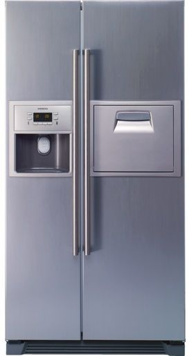 souq siemens ka60na40ne 540 liters side by side refrigerator silver uae. Black Bedroom Furniture Sets. Home Design Ideas