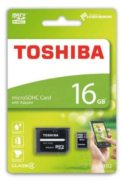89a3a230517 Toshiba 16 GB Memory Card For Mobile Phones - Micro SD High Capacity Cards  - m102