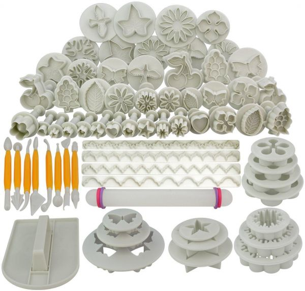 Souq 68Pcs Fondant Cake Decorating Modelling Tools Set DIY Sugar