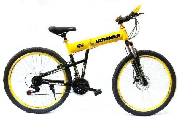 Souq   26 Inch Hummer Folding Bicycle, Yellow