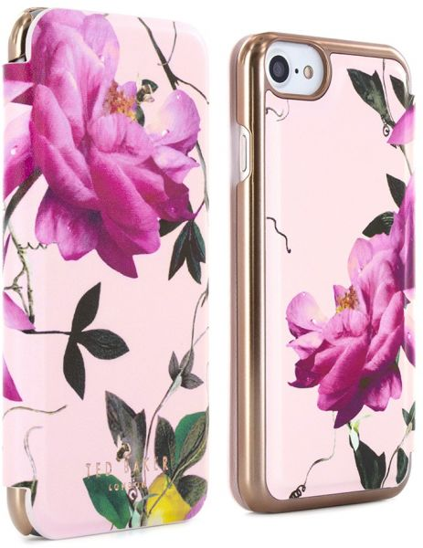 promo code ad741 032cb Proporta Ted Baker Iphone 7 Plus Mirror Folio Case Citrus Bloom - Black
