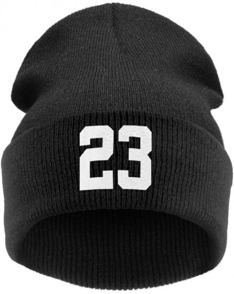 93de6ac958d Black Cotton Beanie   Bobble Hat For Unisex