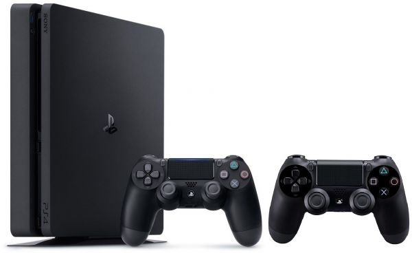 Sony PlayStation 4 500GB Slim with 2 Dual Shock Wireless Controllers ... 207805762a