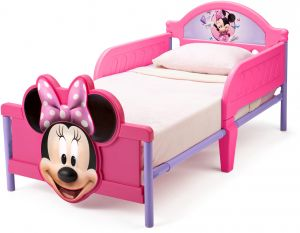 Disney Minnie Mouse Themed Toddler Bed By Delta Kids Pink BB86682MN
