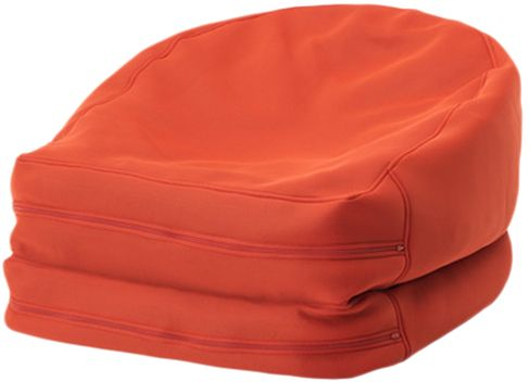 souq ikea plastic bussan beanbag orange uae. Black Bedroom Furniture Sets. Home Design Ideas
