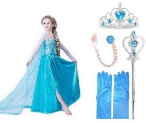 5pcs elsa princess frozen dress costume with wig wand gloves and crown 2-3 years  sc 1 st  Souq.com & Sale on costume boys and cape costume Buy costume boys and cape ...