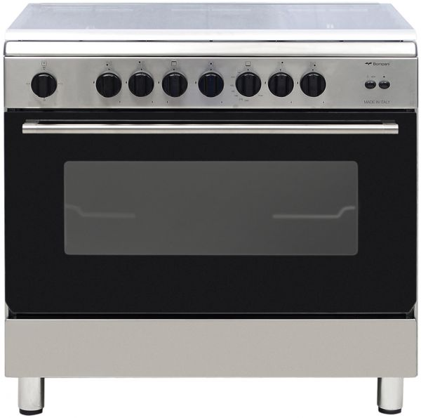 Gas Oven And Grill Part - 26: Bompani Gas Cooker 5 Gas Burners With Oven And Grill - ESSENTIAL90GG5TCIX,  Price, Review And Buy In Dubai, Abu Dhabi And Rest Of United Arab Emirates  ...