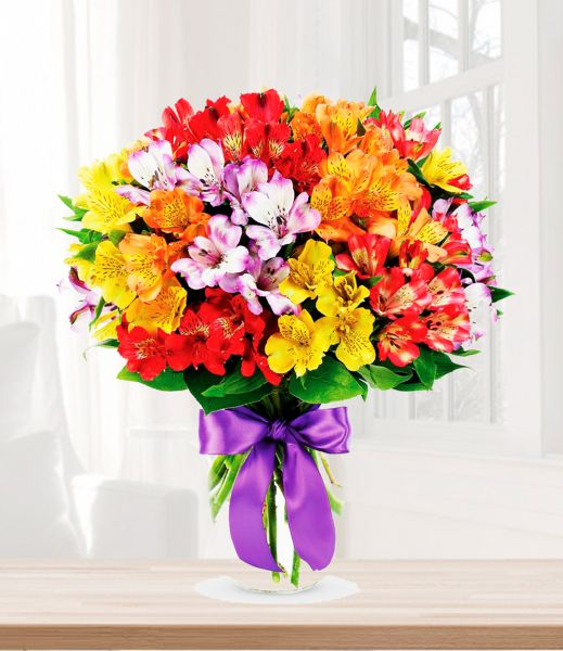 Souq | joiFlowers Butterfly Garden Mixed Flower Bouquet | UAE
