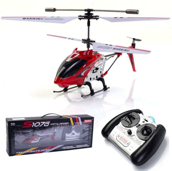 Syma S107G Metal Series 3CH Mini Remote Control RC Helicopter with  GYROSCOPES SYSTEM - Red