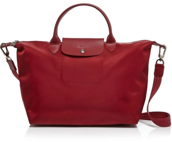 Longchamp Mixed Bag For S Maroon Tote Bags