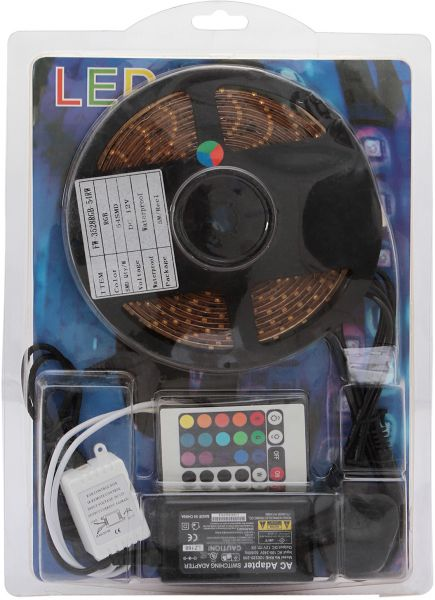 Souq perucci blister packaging 5 meter led strip light with 2amp perucci blister packaging 5 meter led strip light with 2amp adapter multi color pvc 017 aloadofball Image collections