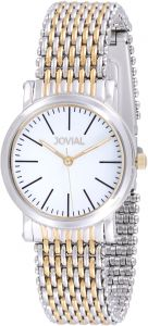 f24b0fcfb Jovial Men's White Dial Stainless Steel Band Watch - 5112 GTMQ 01 ZE