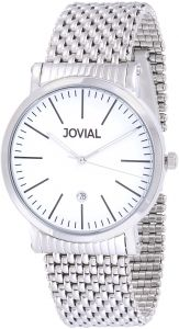 77e401d33 Jovial Men's White Dial Stainless Steel Band Watch - 5111 GSMQ 01 E