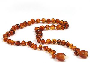 25e95b4b9f61 Baltic Amber Baby Teething Necklace (13 Inches)