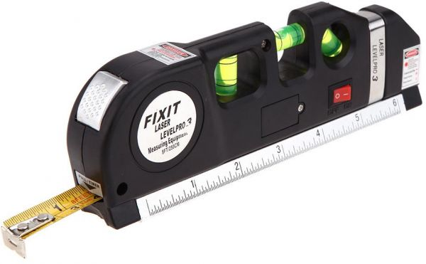 Fixit Laser Level Pro 3 Multi Purpose Measuring Tool With 8 Feet