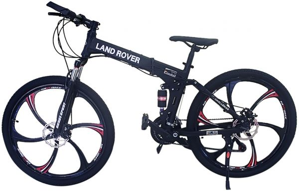 Range Rover Black >> Souq | Land Rover 26 inch Alloy Wheels Foldable Bicycle - FS-073126, Black | UAE