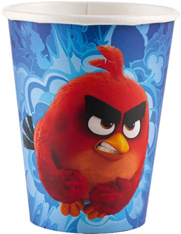 Souq Amscan 8 oz Angry Birds Movie Cups 8 Pieces 9900929 Red