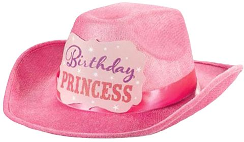daccde3f3cfa4 Amscan Birthday Princess Cowboy Hat - 396777